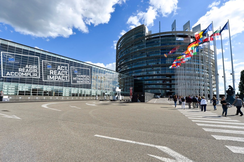 Exterior view of the European Parliament in Strasbourg